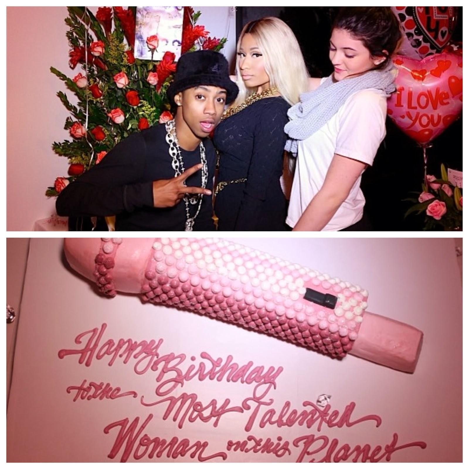 Enjoyable Nicki Minaj Celebrates 31St Birthday With Safaree Kylie Jenner Personalised Birthday Cards Paralily Jamesorg